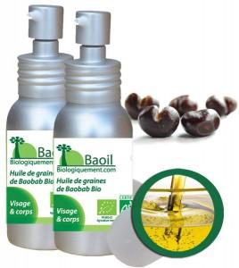 Huile vierge de BAOBAB Sauvage Biologique (Adansonia digitata L.) antioxydante
