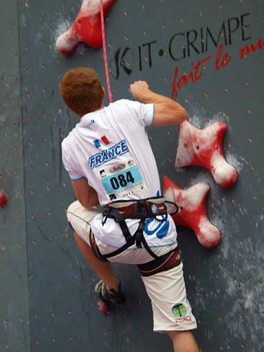 Avec Baomix Yoann le Couster nouveau recordman de France d'escalade de vitesse